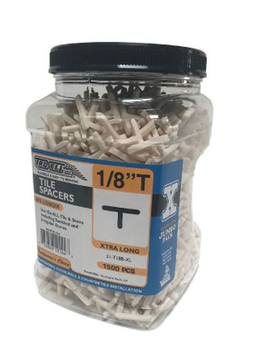 "Tee Long Leg 1/8"" Spacers 1200 pcs/jar"