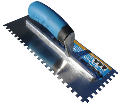 """1/4"""" Square Notch Stainless Steel Trowel"""