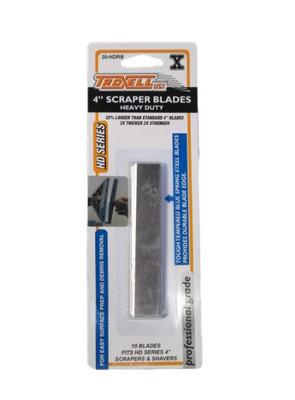 "Heavy Duty 4"" Scraper Blades  - 10 Pack"