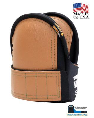 Super Soft Knee Pads Leather Head- Large Black