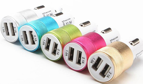 USB Dual Matel Car Charging Adapter