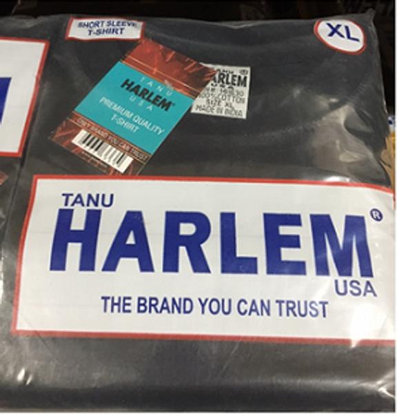 Harlem T-Shirt Black Round Neck 6ct.