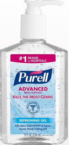 Purell Hand Sanitizer  in 8oz bottles