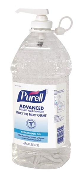 Purell®  Advanced Hand Sanitizer 67.6 Oz Fragrance-Free
