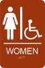 Women's Accessible ADA Restroom Sign