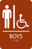 ADA Boys Restroom Sign