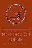 No Food or Drink ADA Sign
