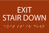 Exit Stair Down ADA Sign