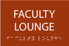 ADA Faculty Lounge Sign