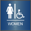 Curved ADA Women's Accessible Restroom Sign