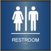 ADA Curved Unisex Restroom Sign