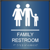 Curved ADA Family Restroom Sign