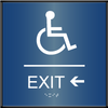 Curved ADA Exit Left Sign