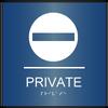 Curved ADA Private Sign