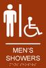 Men's Showers ADA Sign