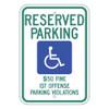 Alabama Handicap Reserved Parking Sign