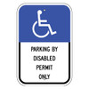 Florida Handicap Parking Sign - Parking by Disabled Permit Only