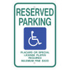 Hawaii Handicap Reserved Parking Sign