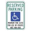 Nevada Handicap Reserved Parking Sign