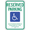 Tennessee Handicap Reserved Parking Sign