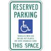 Wisconsin Handicap Reserved Parking Sign