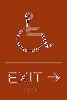 """Exit Right ADA Sign - 6"""" x 9"""""""