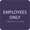 """Employees Only ADA Sign - 6"""" x 6"""""""