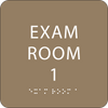 Light Brown Exam Room 1 ADA Sign