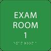 Light Green Exam Room 1 ADA Sign