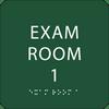 Green Exam Room 1 ADA Sign