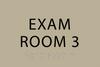 ADA Exam Room 3 Sign