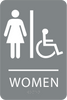 ADA Women Accessible Sign