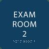 Dark BlueTactile exam room sign