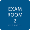 Royal Blue ADA Exam Room 2 Sign with Braille