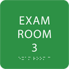 Bright Green ADA Exam Room 3 with Braille
