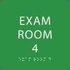 Light Green Exam Room 4 ADA Sign