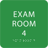 Light Green Exam Room 4 ADA Sign