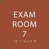 Orange Exam Room 7 Sign w/ ADA Braille