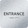 Aluminum ADA Entrance Sign