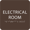 Brown Tactile Electrical Room Sign
