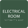 Spruce Tactile Electrical Room Sign