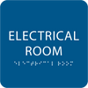 Royal Blue Tactile Electrical Room Sign