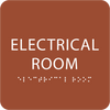 Orange Tactile Electrical Room Sign