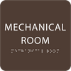 Brown Tactile Mechanical Room Sign