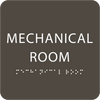 Olive Tactile Mechanical Room Sign