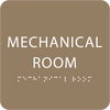 Light Brown Tactile Mechanical Room Sign