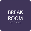 Purple Break Room Sign