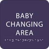 Purple  Baby Changing Area ADA Sign