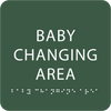Green Baby Changing Area ADA Sign