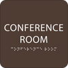 Dark Brown Conference Room ADA Sign